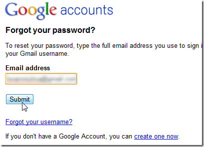 I have lost my google account password