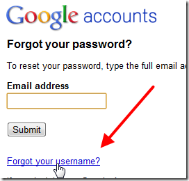 Account recovery forgot your password google chrome 2010 12 16 15 10
