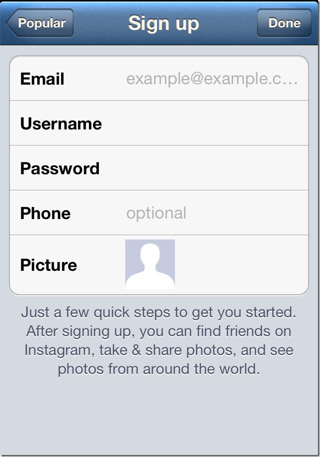 Creating An Account Username Instagram Help Center Html